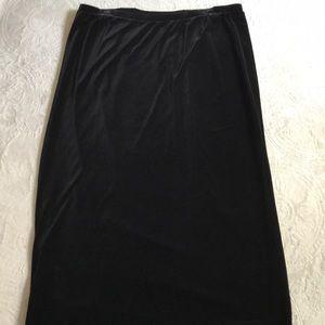 Lane Bryant black maxi length skirt size 18/20 NWT